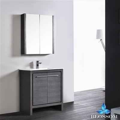 "Milan 24 "" Modern Bathroom Vanity - Silver Grey"