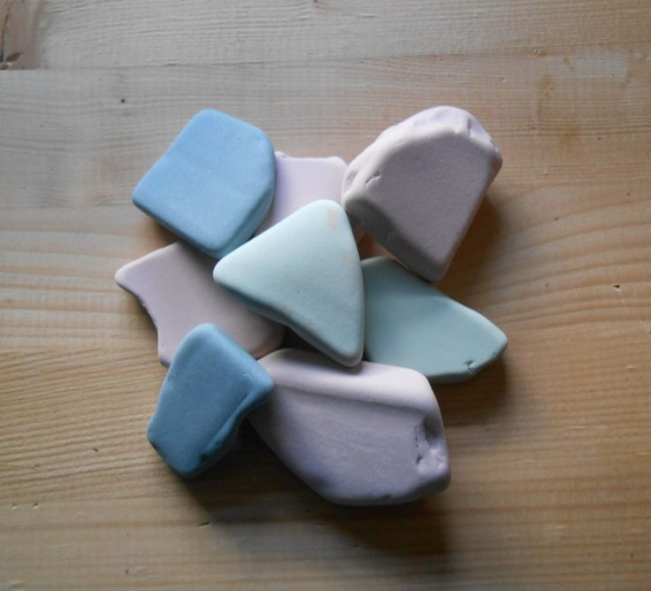 Genuine surf tumbled  beach pottery  Sea pottery pastel colors, 8 pieces, light blue, mint, light pink, crafting, decor     lotto144 di lepropostedimari su Etsy
