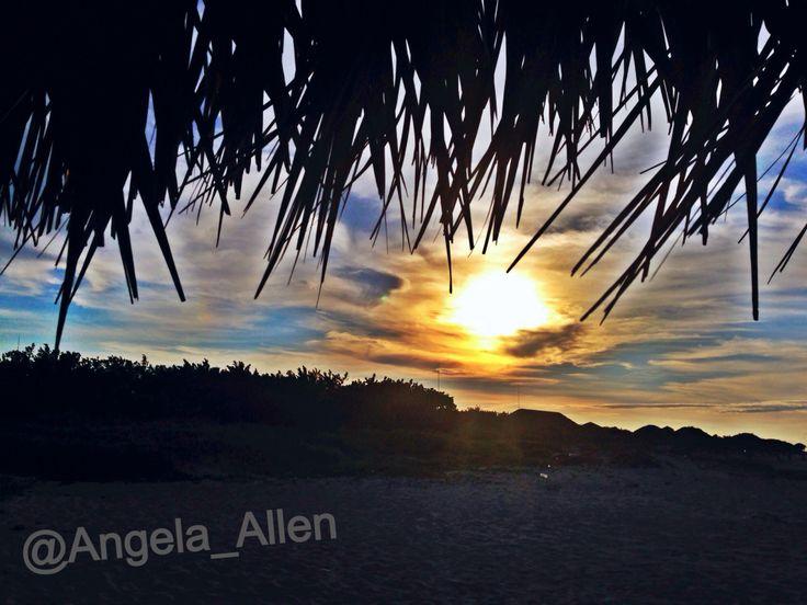 Sunset on the beach in Cuba