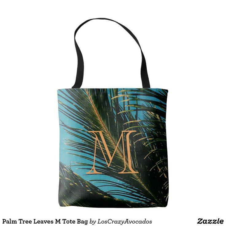 Palm Tree Leaves M Tote Bag
