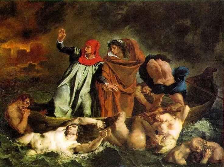 Delacroix  Dante et Virgile aux enfers  1822