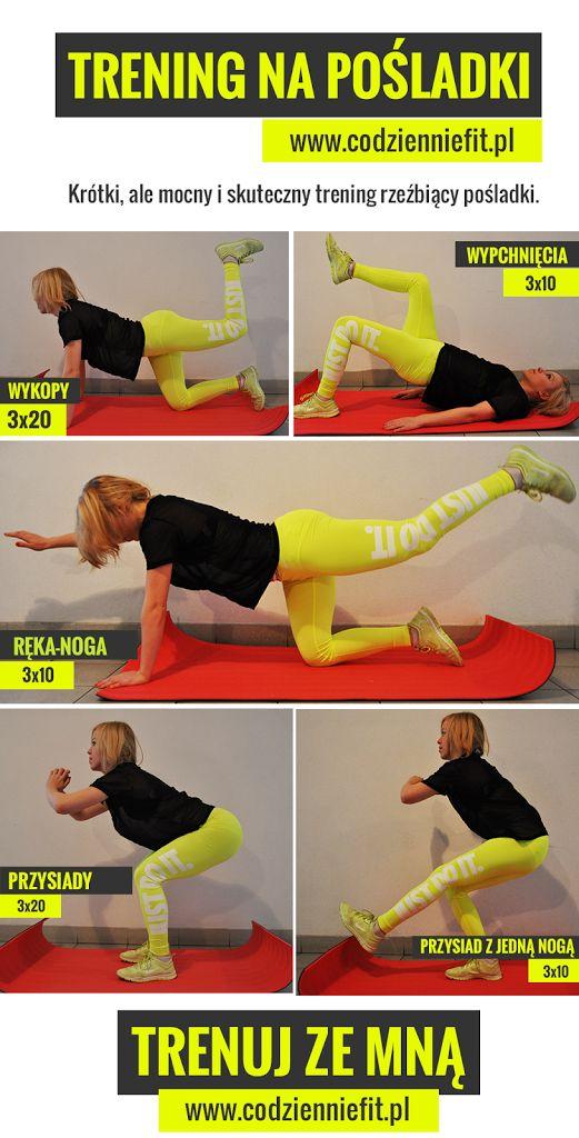 ćwiczenia na tyłek pośladki pupę na uda nogi zestaw ćwiczeń