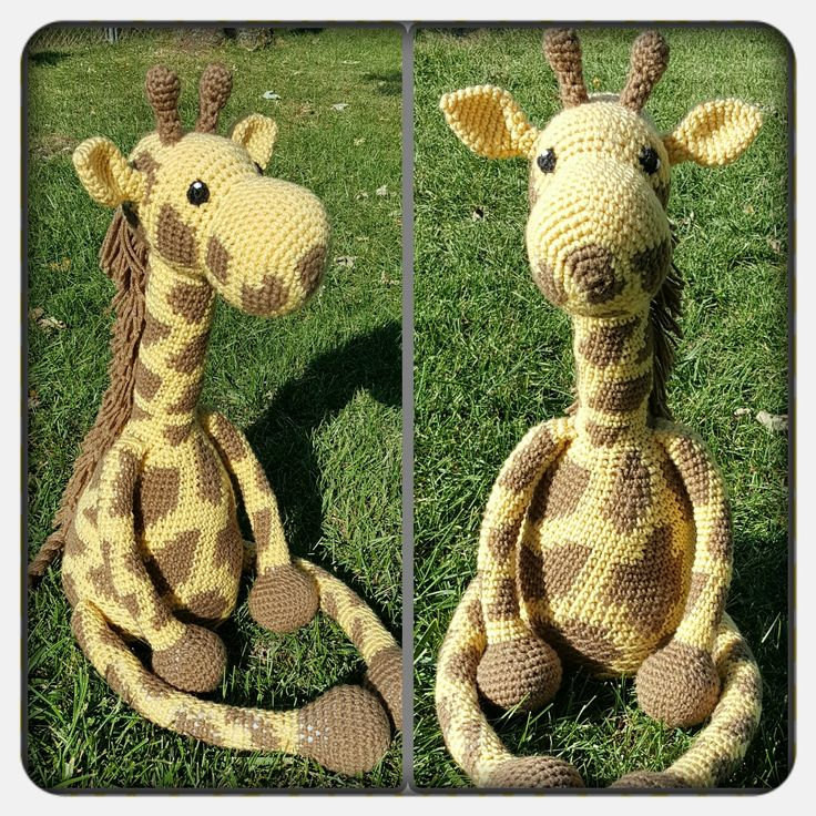 Free crochet giraffe pattern at http://www.theblueelephants.com/2015/06/free-crochet-giraffe-pattern-2-0.html