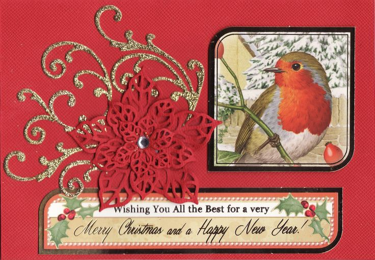 'Wishing You All the Best for a very Merry Christmas and a Happy New Year' Card