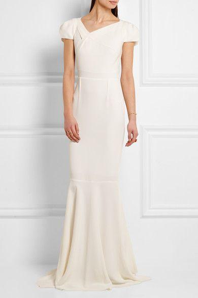 Roland Mouret - Marilla Stretch-crepe Gown - White - UK14