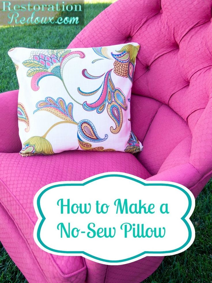 How To Make A No Sew Pillow Bloggers Best Diy Ideas