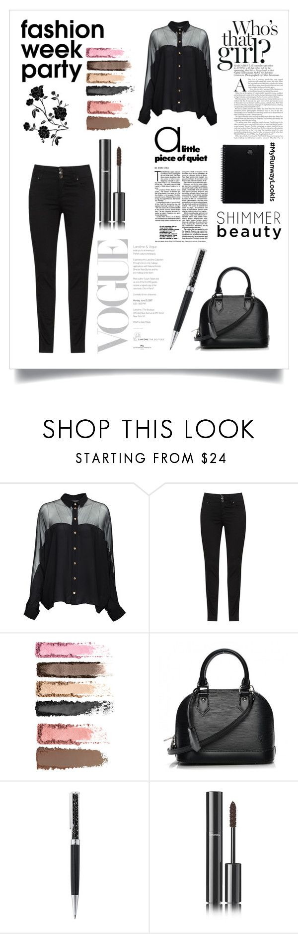 """""""Untitled #14"""" by darya-andreea ❤ liked on Polyvore featuring Gucci, Louis Vuitton, Swarovski and Chanel"""