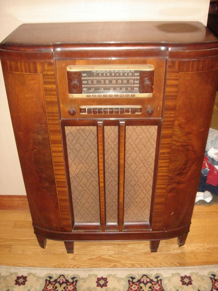 Antique General Electric Floor Radio American History