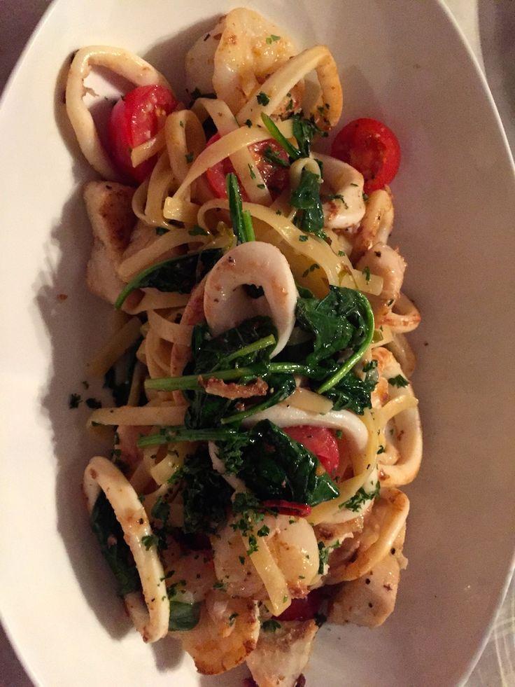 Seafood Tagliatelle at the Castelli Estate Bistro, Denmark