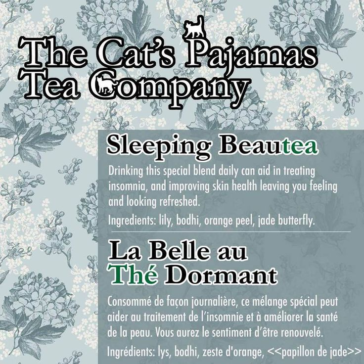 Sleeping Beautea  Drinking this special blend daily can aid in   treating insomnia, and improving skin health   leaving you feeling and looking refreshed.