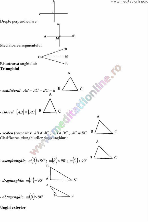 Formule matematica gimnaziu 5 8 Formule si teorie Geometrie plana si in spatiu si Trigonometrie pagina 2