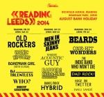 Honest Reading and Leeds Festival line-up Poster