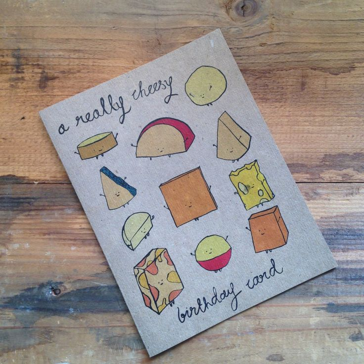 Part of the A Really.... birthday card series. The Cheesy birthday card is a great choice for anyone with a penchant for cute and punny things and cheese of course. Card is printed on 100% recycled kr