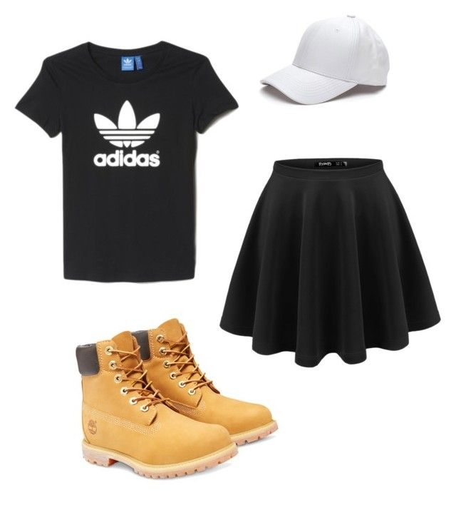 Sporty spice by sophie-delaney-1 on Polyvore featuring polyvore, fashion, style, adidas, Timberland, women's clothing, women's fashion, women, female, woman, misses and juniors