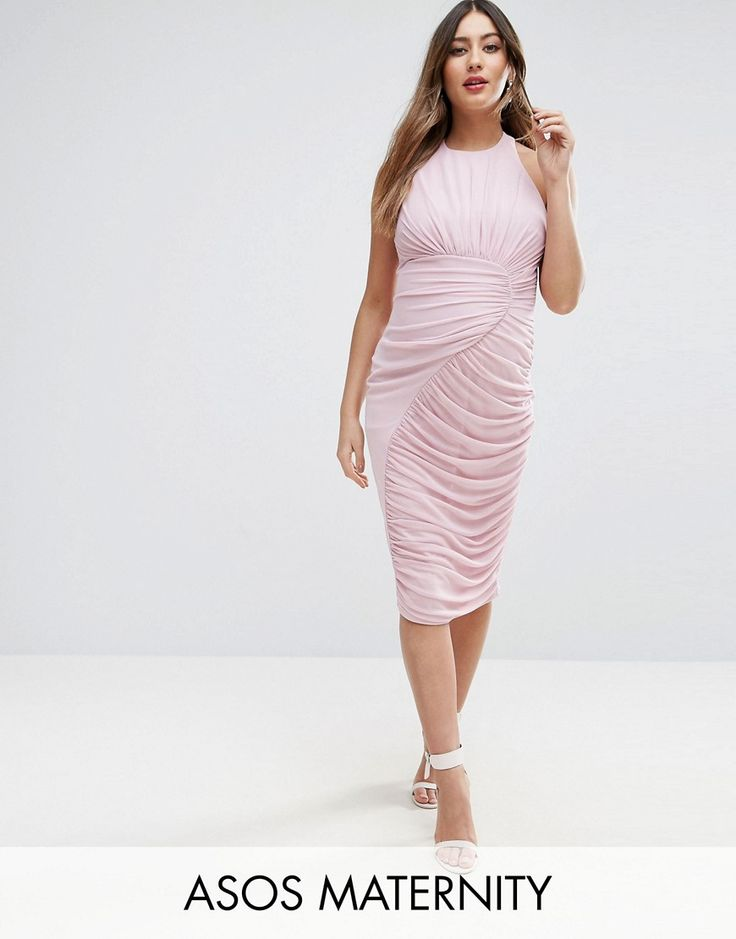 Get this Asos Maternity's jersey dress now! Click for more details. Worldwide shipping. ASOS Maternity Mesh Ruched Curved Seam Detail Dress - Purple: Maternity dress by ASOS Maternity, Soft knitted fabric, High neckline, Front mesh overlay, Button neck fastening, Cross-over back straps, Slim fit - cut close to the body, Designed to fit through all stages of pregnancy, Machine wash, 100% Polyester, Our model wears a UK 8/EU 36/US 4 and is 169cm/5'6.5 tall. Maternity dressing gets bumped up to…