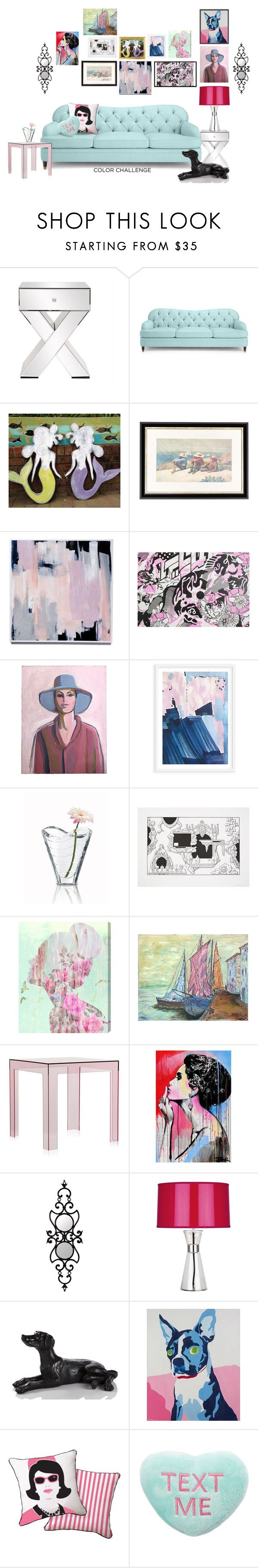 """""""It's A Dog's Life"""" by kathyaalrust ❤ liked on Polyvore featuring interior, interiors, interior design, home, home decor, interior decorating, Kate Spade, Munn Works, Baccarat and Oliver Gal Artist Co."""