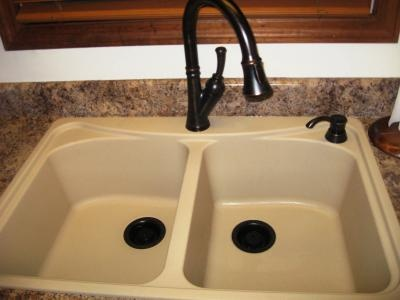 Black Crushed Granite Kitchen Sink