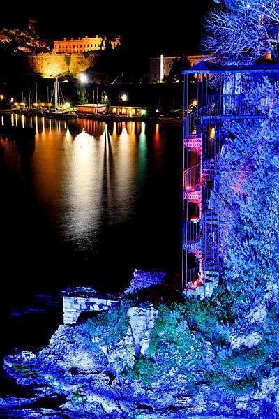CORFU Colorful night in Corfu island...  Hercules Milas