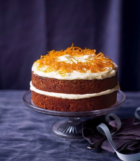 Paul H's carrot cake: delicious, very orangey. Made without the nuts and it was fine.