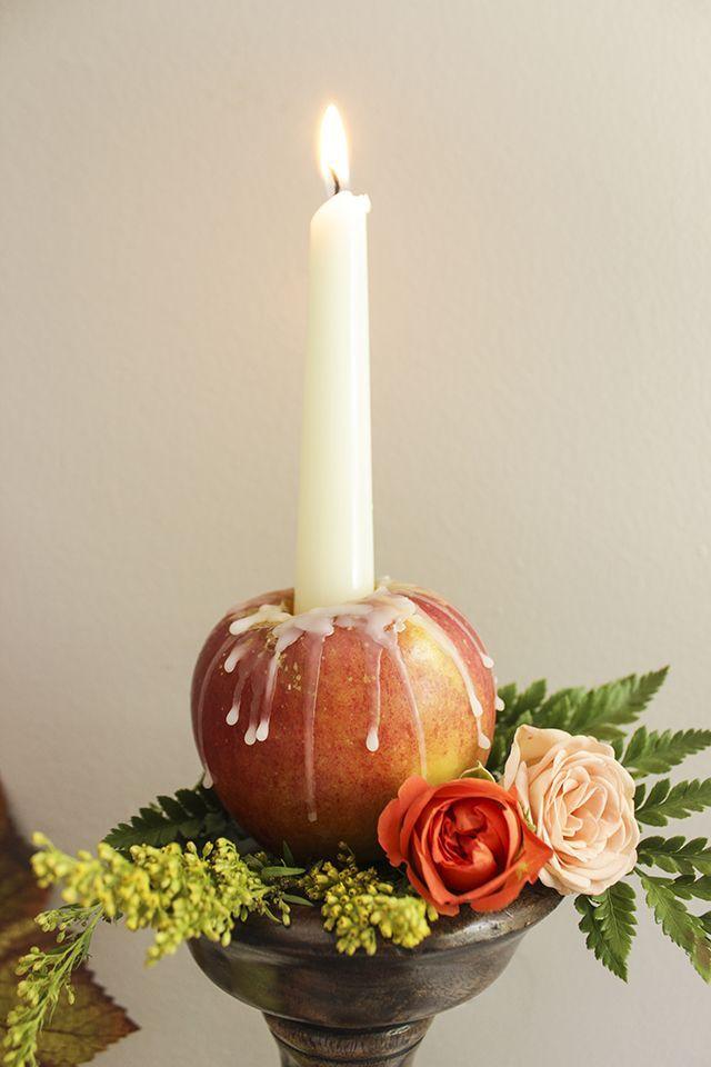 Fall Decor, Fall Centerpiece, Fall Decorating, Apple Centerpiece, Harvest Centerpiece, Fall Candle Decor