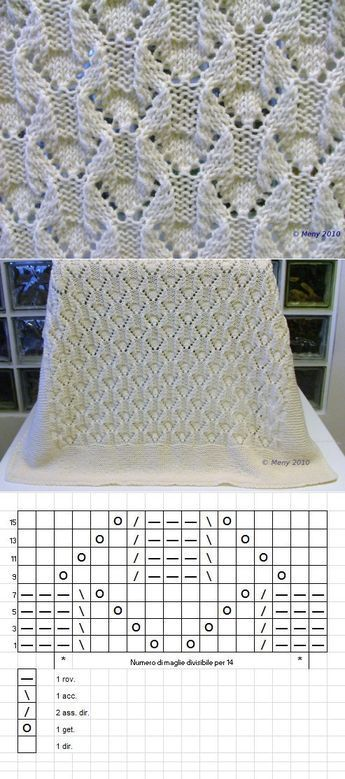 Knit. Simple openwork pattern, #through …