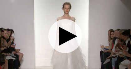 Brides: Watch: Christos' Spring 2015 Bridal Runway Video