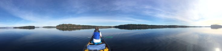 My son's first canoe trip: A calm late October morning on Kejimkujik Lake Kejimkujik National Park Canada (44.3919028-65.2295528) http://ift.tt/2ChK44P