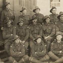 Photograph - Australian Servicemen, 19th Reinforcements, 24th Battalion, A.I.F., World War I, circa 1917
