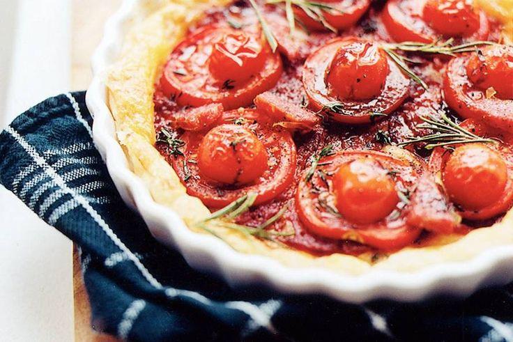Taart met drie soorten tomaat van Anne-Karine Zeeman - Recept - Allerhande