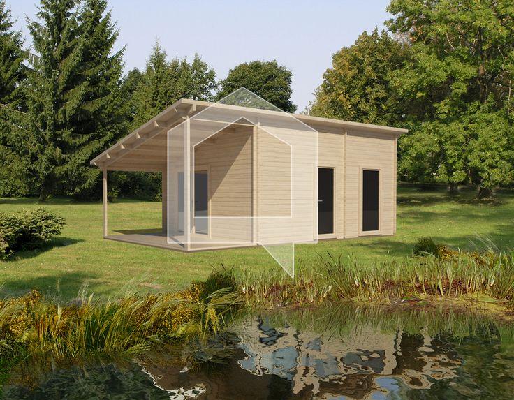 Dārza mājiņa Klijāns 30+10 m2; Cena - € 7.149; Tā ir interesanta un stilīga koka mājiņa Klijāns. Mājas telpas sadalītas pēc dārza īpašnieku vajadzībām. Ērta piebūve ar nojumi ļaus paslēpties no tveicīgas saules.