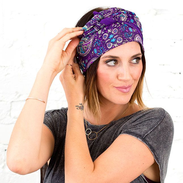 4 Ways to Wear a Scarf on Your Head This Spring