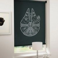 Spaceship Blinds. How freaking cool are these? If we hadn't already started the dinosaur theme in my sons room I'd be buying one of these for his window.