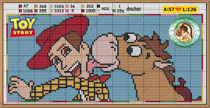 Knitting Pattern Toy Story Characters : 20 best images about Disney Toy Story Cross stitch on Pinterest