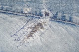 How to patch the dreaded thigh hole in jeans. Ladies with ample thighs - you know the issue I speak of!