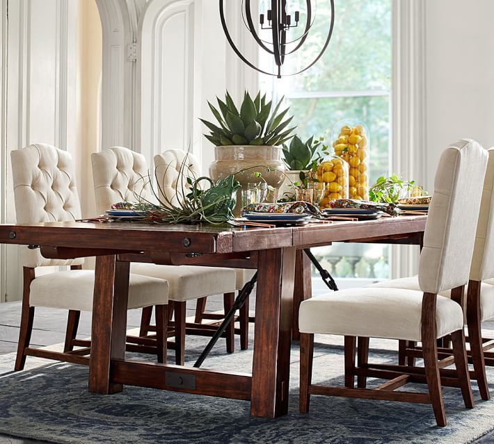 Pottery Barn Wood Furniture Quality: Benchwright Extending Dining Table, Alfresco Brown