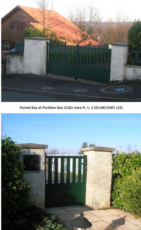 Belle réalisation chez l'un de nos clients avec l'assemblage et l'installation d'un portail et portillon en kit aluminium OLBO sur mesure (vert RAL 6005)
