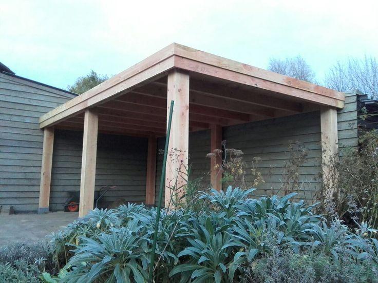 Overkapping op maat gemaakt van douglas hout pinterest verandas pergolas - Hout pergola dekking ...