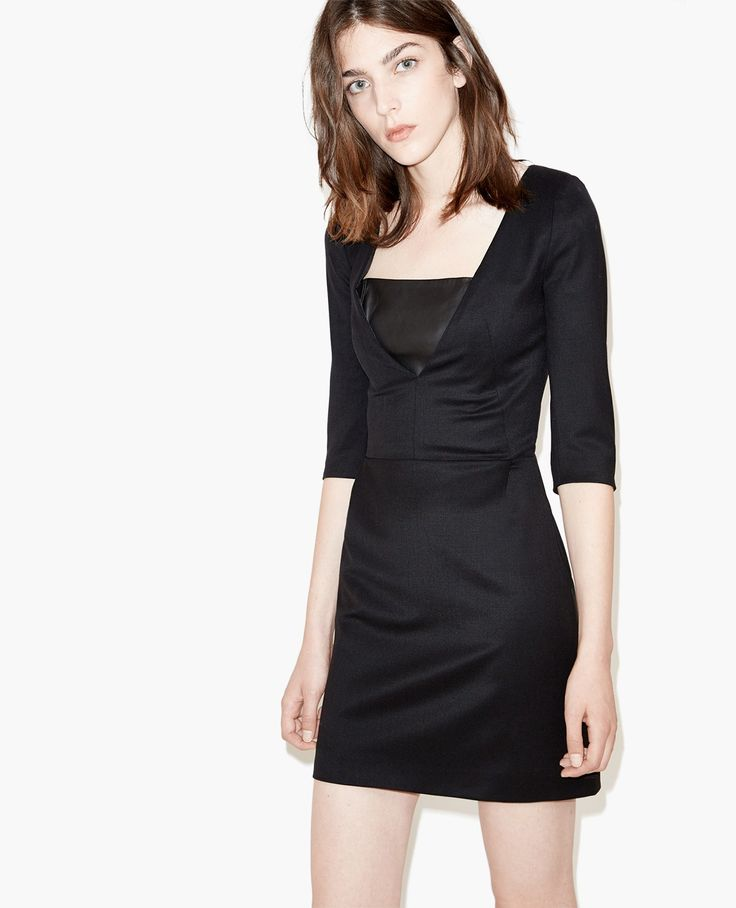 Robe structurée à bustier en cuir - The Kooples