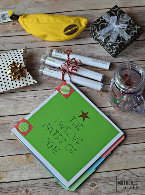 Date Nights for a Year. Some really cute ideas for giving date nights as a Christmas present!!!