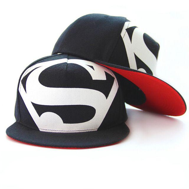 ¡ Caliente! nuevo Llega La Moda Hip Hop Superman Snapback Capsula los Sombreros Para Mujeres de Los Hombres de Verano Informal Al Aire Libre Sombrero Gorra de Béisbol Envío Gratis