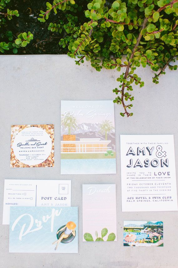 Ace Hotel Palm Springs wedding | Photo by Jennifer Emerling Photographer | Read more - http://www.100layercake.com/blog/?p=70579
