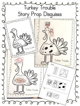 Turkey Trouble Story Prop Disguises $1 Use with Turkey Trouble book by Wendi Silvano