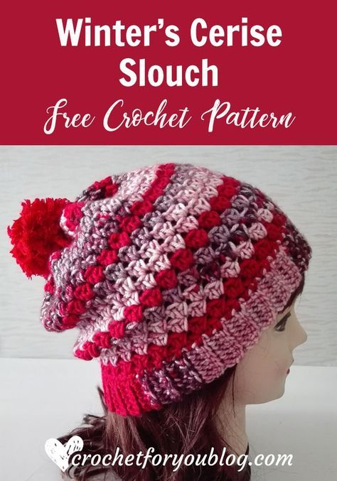Winter\'s Cerise Crochet Slouch Free Pattern | Crochet projects ...