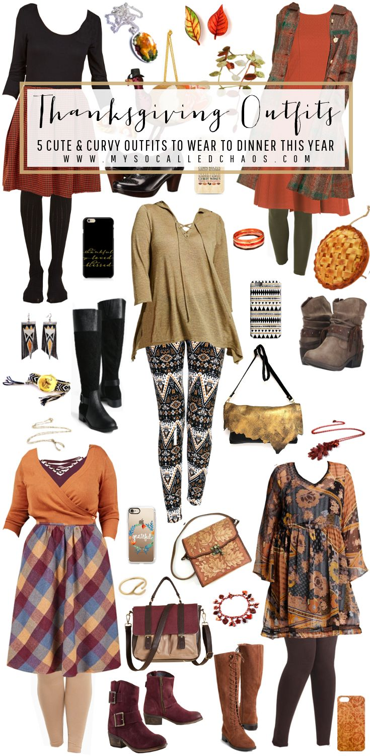 What are you wearing to Thanksgiving this year and what does it say about you? Here are five cute, curvy, and accessorized Thanksgiving Outfits you'll love!  Thanksgiving Outfits: 5 Cute & Curvy Outfits to Wear to Dinner http://mysocalledchaos.com/2016/11/thanksgiving-outfits.html