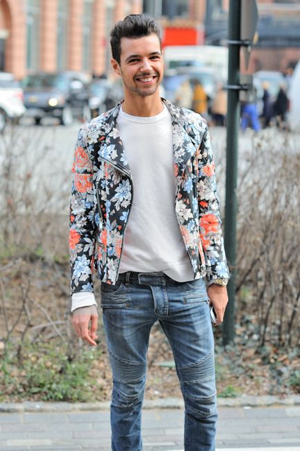 Floral / Bomber / Off White Sweater