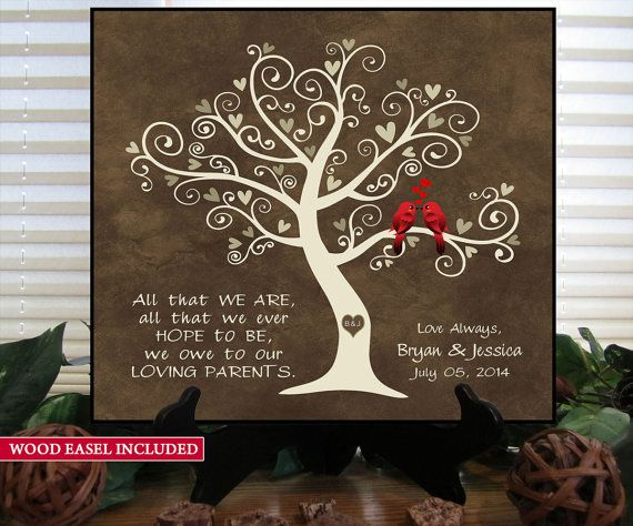 Wedding Gift For S Gkft Her Him Newlywed Engagement Anniversary Love Birds Family Tree Wood Sign