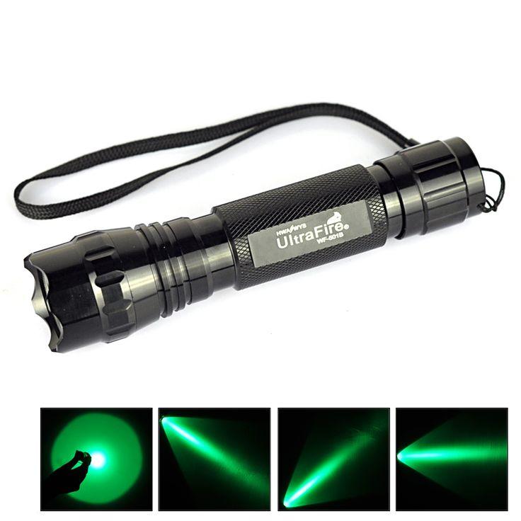 3 Вт 501B мини фонарик факел 300 Lumens Lanterna открытый охота одиночный режим зеленый свет + 1 года гарантии
