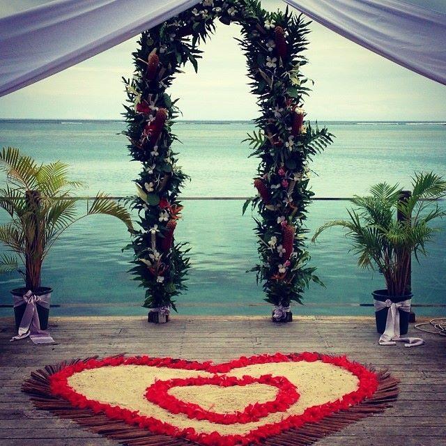 Wedding ceremony set up at Warwick Le Lagon Resort & Spa, Vanuatu #islandwedding #tropicalwedding #destinationwedding