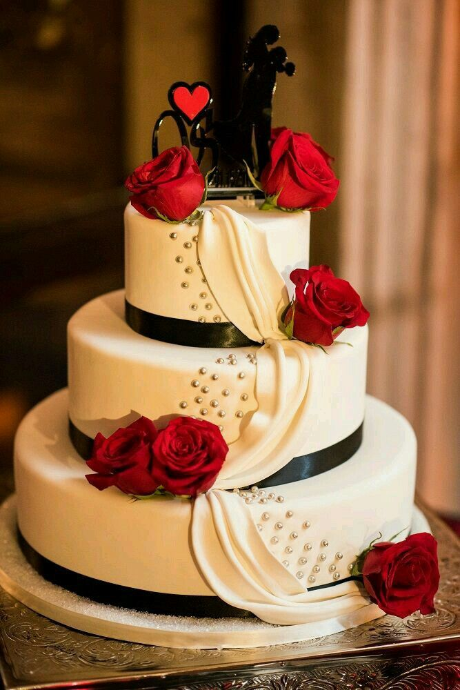Beautiful, elegant, perfect for a valentine themed wedding.