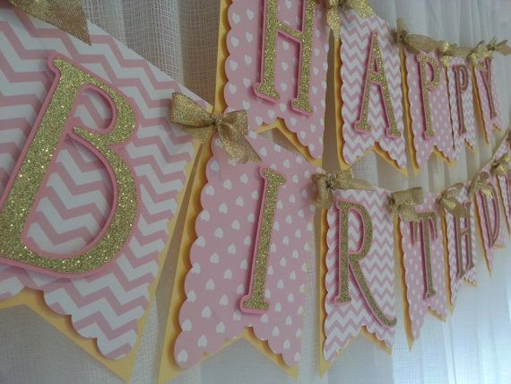 Hey, I found this really awesome Etsy listing at https://www.etsy.com/ca/listing/245579556/pink-and-gold-happy-birthday-banner